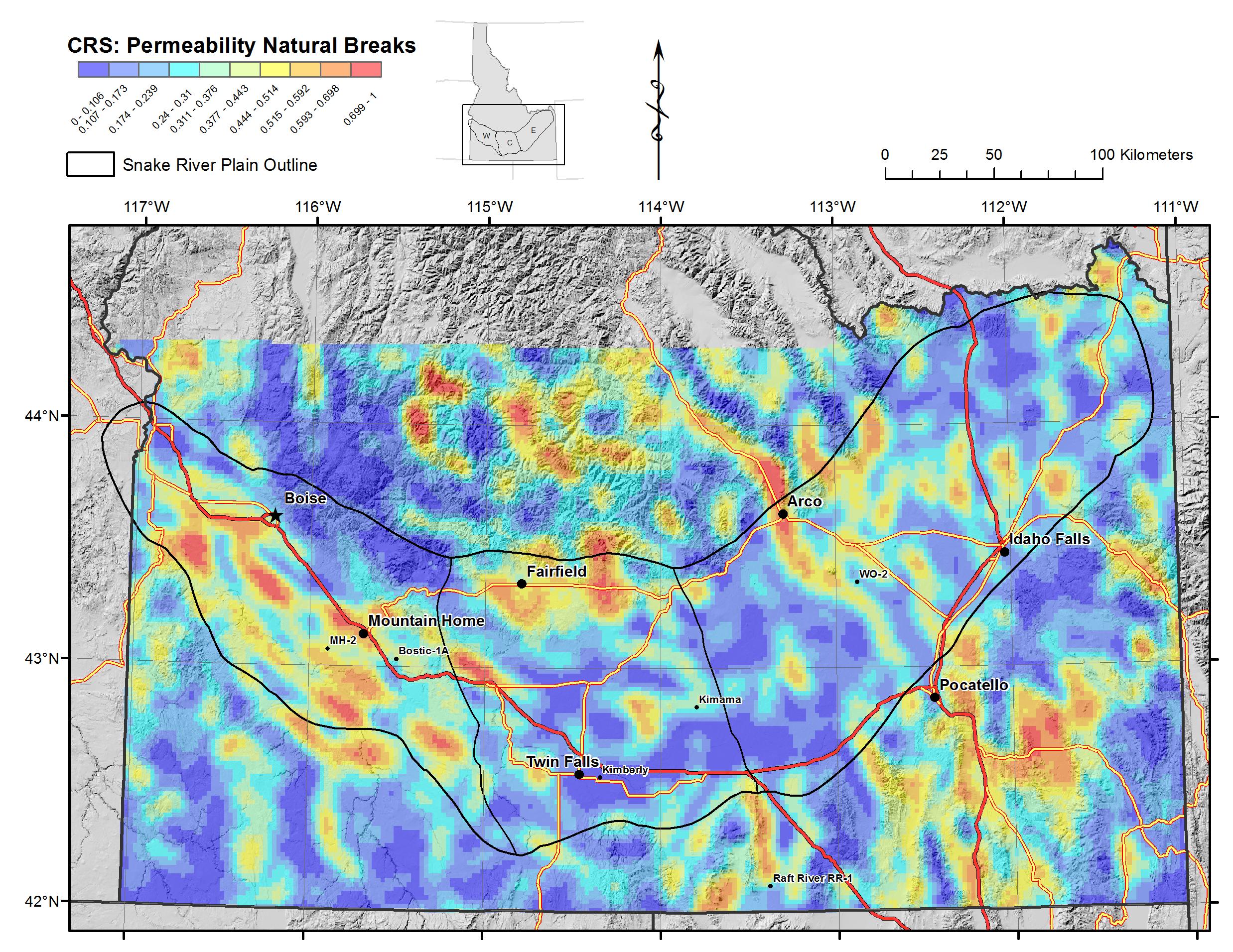 Snake River Plain Geothermal Play Fairway Analysis Raster