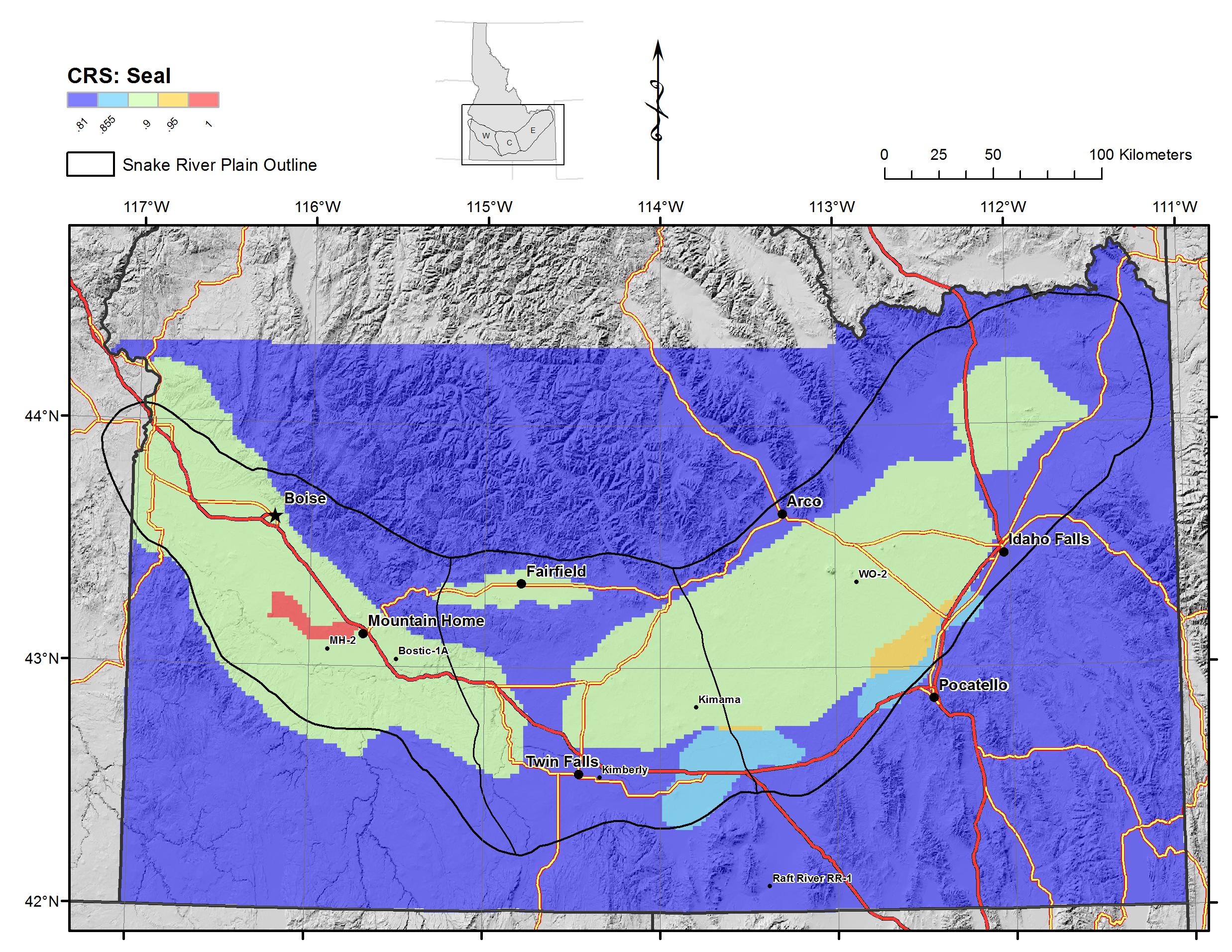 Snake River Plain Geothermal Play Fairway Analysis Raster Files